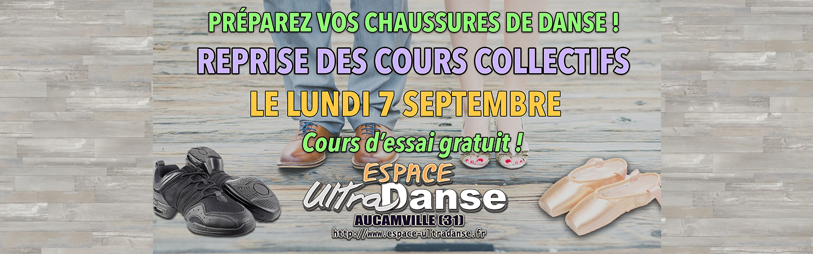 Rentrée des cours collectifs de danse le 7 septembre