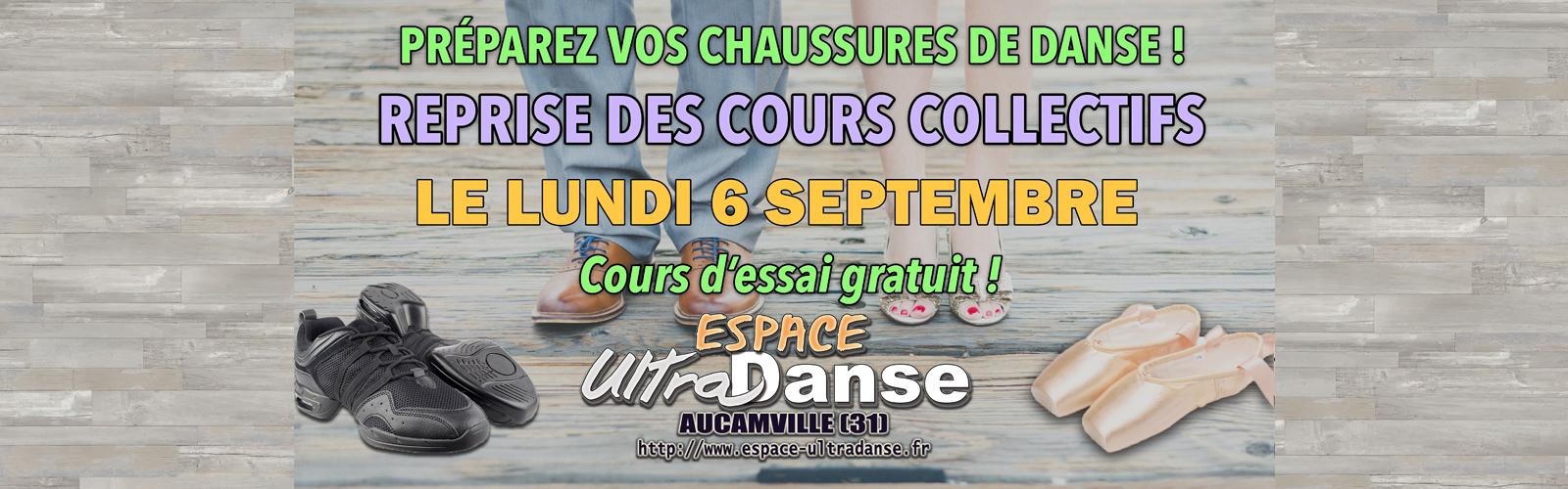 Rentrée des cours collectifs de danse le 6 septembre
